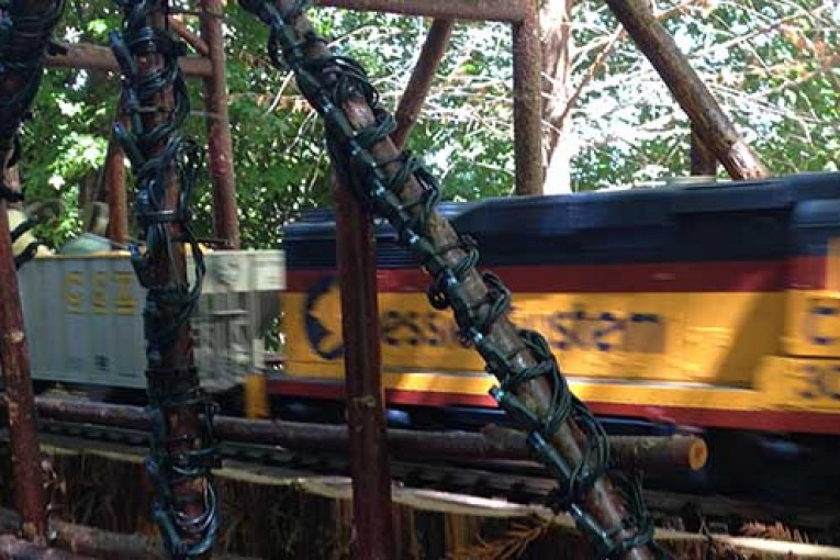 Decorate your outdoor train layout